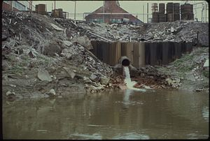Water pollution in the United States - Industrial waste discharged to Cuyahoga River, Ohio (1973)
