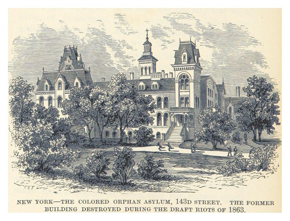 HEADLEY(1882) -p080 New York - the Colored Orphan Asylum, 143rd Street