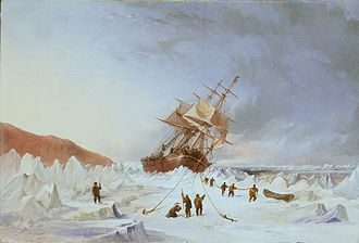 Thomas Sewell Robins - HMS Assistance in the Ice, by Thomas Sewell Robins, 1853