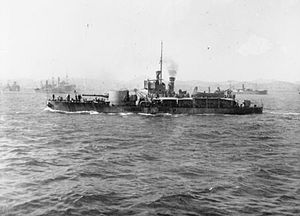 HMS M15 at Mudros 1916 IWM SP 891.jpg