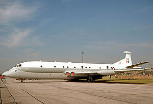 No. 206 Squadron RAF - Hawker Siddeley Nimrod MR.1 maritime reconnaissance aircraft of No. 206 Squadron in 1977.