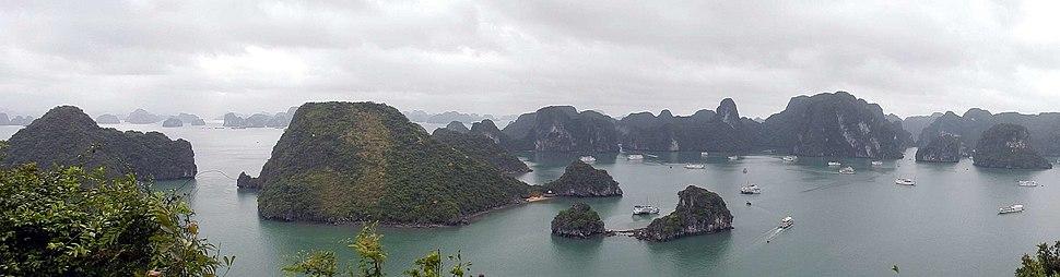 Panoramic view of Hạ Long Bay