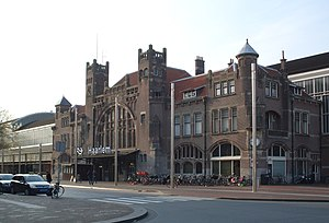 Haarlem railway station - Main entrance, built in the 1900s