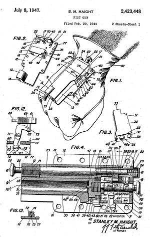 Categorysingle shot pistols wikivisually sedgley oss 38 illustration of the haight fist gun in its us patent document asfbconference2016 Image collections