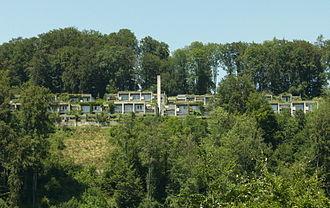 Kirchlindach - The Halen development (Siedlung Halen) in summer