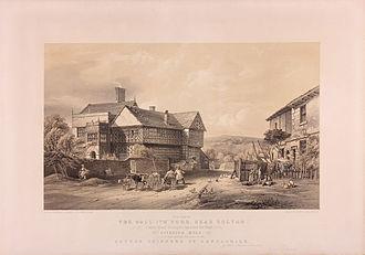 Samuel Crompton - Image: Hall i' th' Wood lithograph