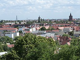 View of the city of Halle from the the Zoo