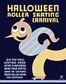 Halloween roller skating carnival, WPA poster, 1936.jpg