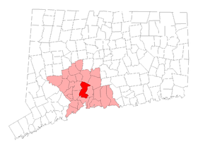 Carte du comté de New Haven.