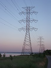 Types Of Transmission >> Overhead power line - Wikipedia