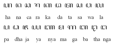 Aksara Hancaraka gaya Jawa