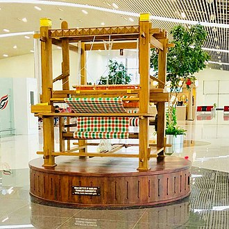 Kannur International Airport - Handloom model at the departure area