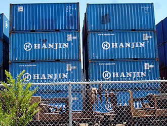 Hanjin Shipping - Hanjin 20 foot containers