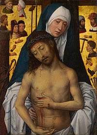 Hans Memling - The Man of Sorrows in the arms of the Virgin - Google Art Project.jpg
