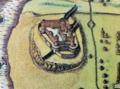 Harlech castle, 1610.png