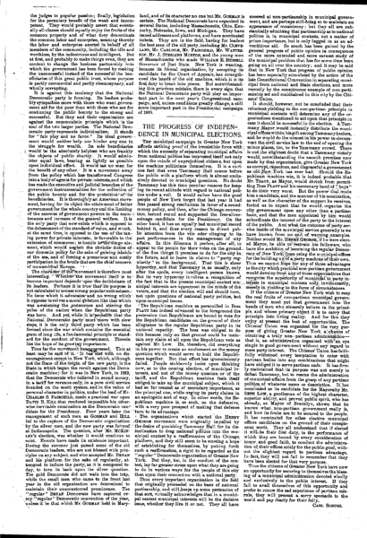 File:Harper's Weekly Editorials by Carl Schurz - 1897-10-16 - The Progress of Independence in Municipal Elections.PNG