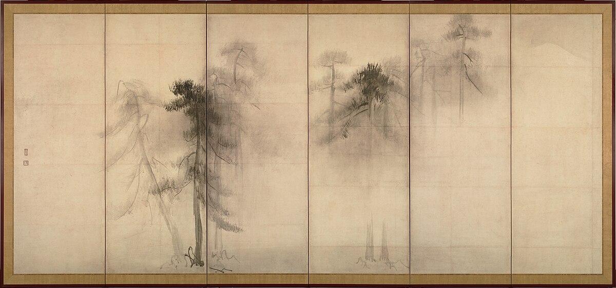Hasegawa Tohaku - Pine Trees (Sh?rin-zu by?bu) - left hand screen.jpg