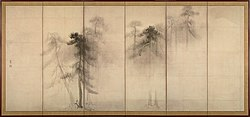 Hasegawa Tohaku - Pine Trees (Shōrin-zu byōbu) - left hand screen.jpg