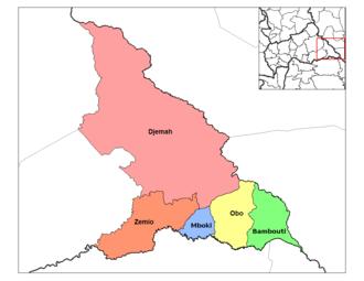 Djemah - Image: Haut Mbomou sub prefectures
