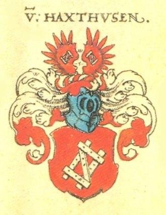 Frederik Gottschalk von Haxthausen - Haxthausen coat of arms (1602)