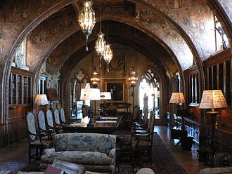 Camille Solon - Hearst Castle's Casa Grande Library designed and painted by Camille Solon