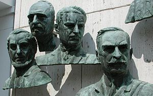 Ivar Wickman - Ivar Wickman's bronze bust (third from the left) in the Polio Hall of Fame