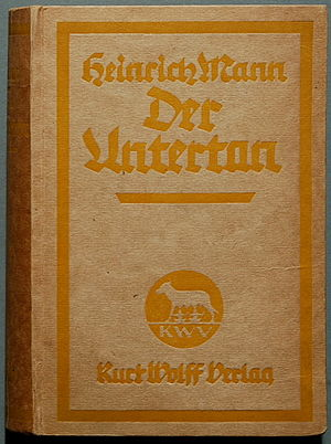 Der Untertan - Cover of the 1918 edition
