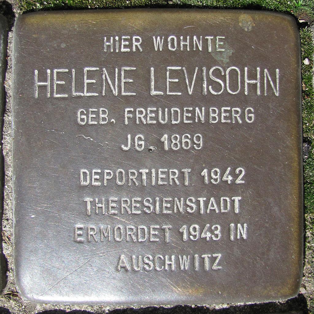 Helene Levisohn - Wandsbeker Königstraße 38 (Hamburg-Wandsbek).Stolperstein.nnw.jpg