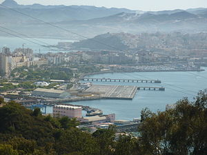 Ceuta Heliport - View of the Ceuta Heliport from the park of San Amaro