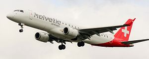 Embraer E-Jet family - E190 of Helvetic Airways