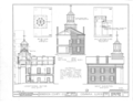 Henderson County Courthouse, Fourth and Warren Streets, Oquawka, Henderson County, IL HABS ILL,36-OQUA,1- (sheet 2 of 7).png