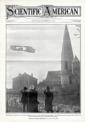 Henri Farman - Farman making the first cross-country flight accomplished with an aeroplane