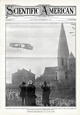 Henri Farman - Farman making the first cross-country flight accomplished with an aeroplane