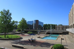 Henry Ford College - South portion of campus seen from the courtyard.