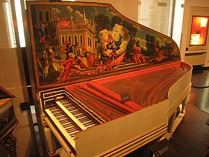 Hieronymus Albrecht Hass - 1734 harpsichord by Hieronymus Albrecht Hass, now in the Musical Instrument Museum in Brussels