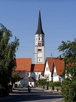 Hiltenfingen - Dorfmitte, Kirche v S.JPG