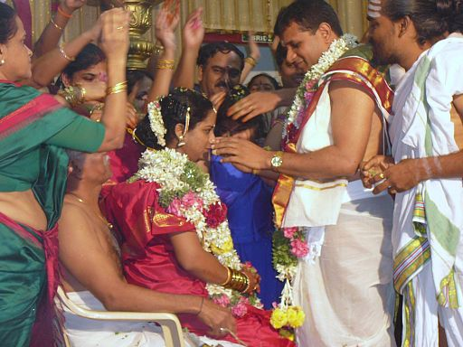 Hindu marriage blessing