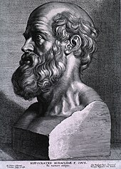 A sculpture of the father of Western medicine, Hippocrates.Hippocrates.