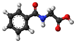 Hippuric acid - Image: Hippuric acid 3D ball