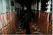 Inside of a French troop transport C-130