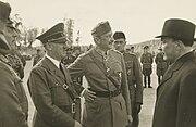 Hitler, Mannerheim and Ryti in Finland in 1942