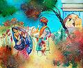 Holi kele nanda lala, A painting.jpg