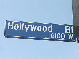 Hollywood Boulevard street in Hollywood, Los Angeles, California, United States