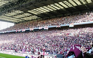 History of Aston Villa F.C. (1961–present) - The Holte End was converted into an all-seater stand in 1994.