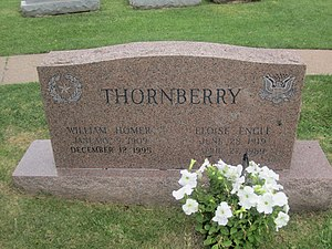Homer Thornberry - Homer Thornberry grave marker at Texas State Cemetery in his native Austin, Texas.