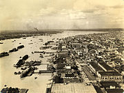 Kolkata port in 1945. It was an important military port during WWII.