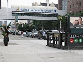 Hostos Community College - Pedestrian walkway over the Grand Concourse connecting two halves of the Hostos campus.