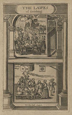 Richard Brathwait - Frontispiece to A Solemne Joviall Disputation, 1617