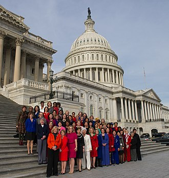 Women U.S. Representatives of the 113th Congress House Democratic Women of the 113th Congress (8342801079).jpg