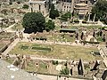 House of the Vestals in the Forum Romanum from the Palatine, Rome..jpg